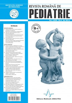 Revista Romana de PEDIATRIE | Volumul LXIII, Nr. 2, An 2014