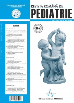 Revista Romana de PEDIATRIE | Volumul LXII, Nr. 2, An 2013