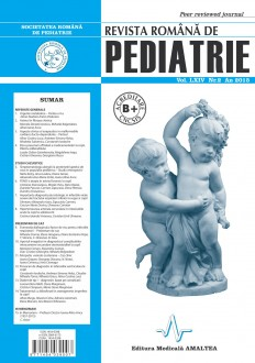 Revista Romana de PEDIATRIE | Volumul LXIV, Nr. 2, An 2015