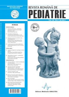 Revista Romana de PEDIATRIE | Volumul LX, Nr. 3, An 2011
