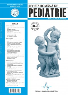 Revista Romana de PEDIATRIE | Volumul LXI, Nr. 4, An 2012