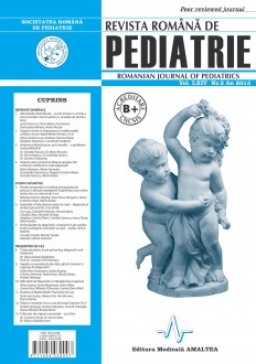 Revista Romana de PEDIATRIE | Volumul LXIV, Nr. 3, An 2015