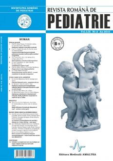 Revista Romana de PEDIATRIE | Volumul LIX, Nr. 2, An 2010