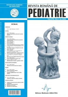 Revista Romana de PEDIATRIE | Volumul LVII, Nr. 3, An 2008
