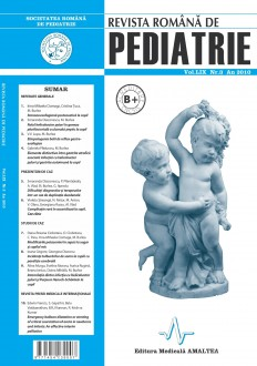 Revista Romana de PEDIATRIE | Volumul LIX, Nr. 3, An 2010