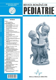 Revista Romana de PEDIATRIE | Volumul LVII, Nr. 4, An 2008