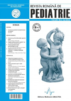 Revista Romana de PEDIATRIE | Volumul LIX, Nr. 4, An 2010