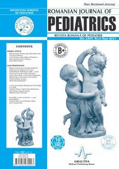 Revista Romana de PEDIATRIE   Volumul LXVI, Nr. 3, An 2017