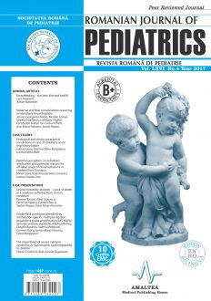 Revista Romana de PEDIATRIE   Volumul LXVI, Nr. 4, An 2017
