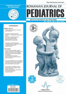 Romanian Journal of Pediatrics | Volume LXVII, No. 1, Year 2018