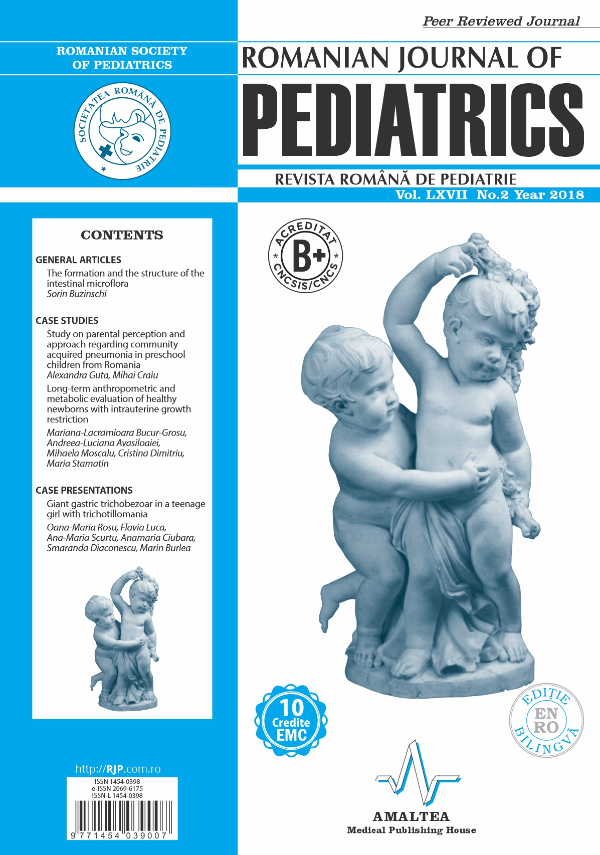 Romanian Journal of Pediatrics | Volume LXVII, No. 2, Year 2018
