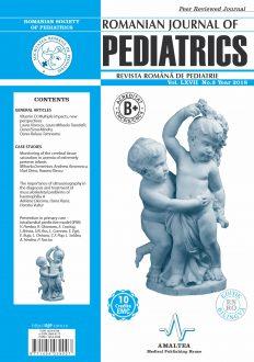 Romanian Journal of Pediatrics | Volume LXVII, No. 3, Year 2018