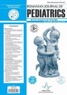 Romanian Journal of Pediatrics | Volume LXVIII, No. 4, Year 2019