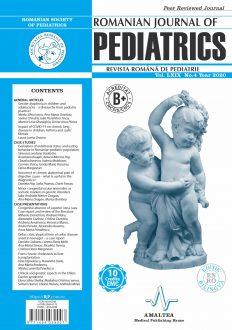 Romanian Journal of Pediatrics | Volume LXIX, No. 4, Year 2020